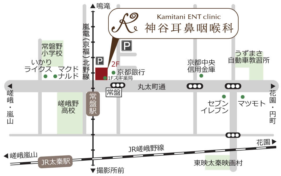 地図 神谷耳鼻咽喉科医院